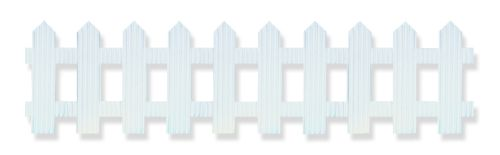White Picket Fence Bordette - Product #3801-4