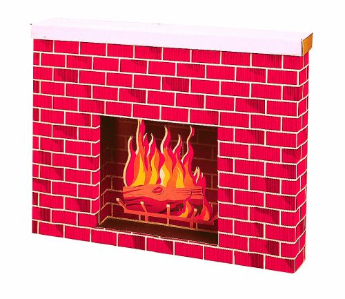 Corrugated Fireplace Display - Product #5308-1