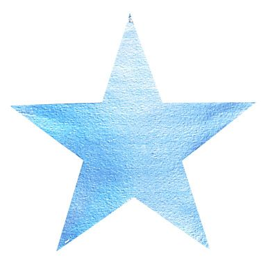 Silver Metallic Star Diecut - Product #5340-1