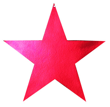 Red Metallic Star Diecut - Product #5340-1