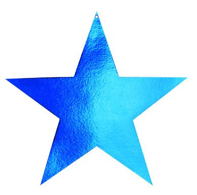 Blue Metallic Star Diecut - Product #5340-1