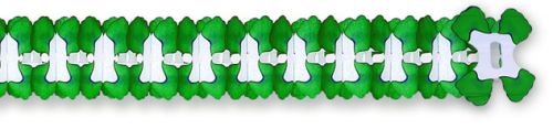 Green/White Cross Garland - Product #5383-6