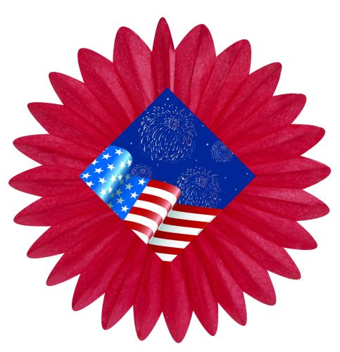 Flag & Fireworks Fan - Product #5387-9