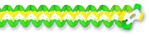 Yellow/White /Green Cross Garland - Product #5391-6