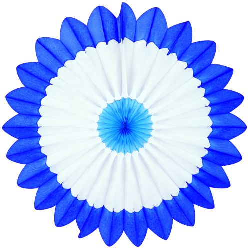 Light Blue/White/Dark Blue Fan Burst - Product #5397-5