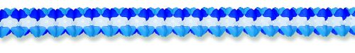 Light Blue/White/Dark Blue Cross Garland - Product #5397-6