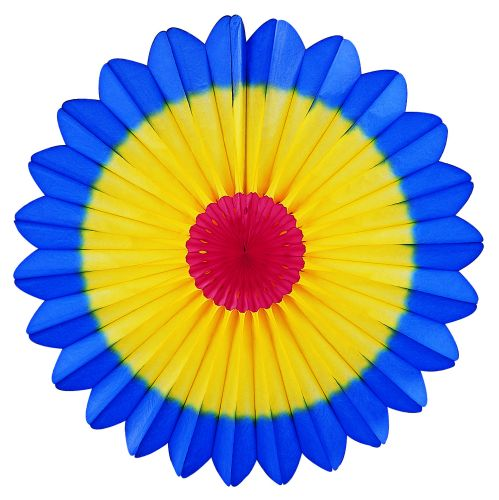 Red/Yellow/Blue Fan Burst - Product #5419-1