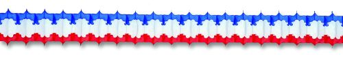 Red/White/Blue Arch Garland - Product #5422-3