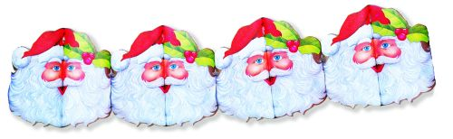 Santa Printed Garland - Product #5428-1