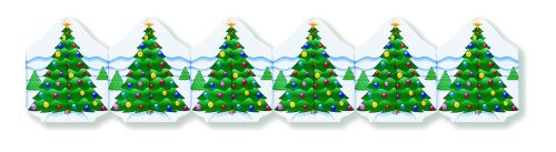 Christmas Tree Printed Garland - Product #5429-8