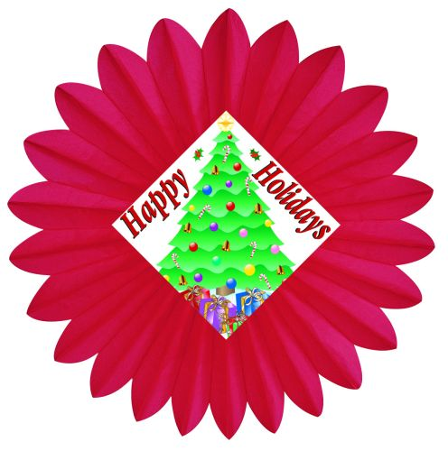 Happy Holiday Fan - Product #5439-6