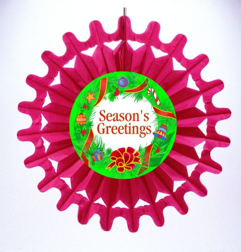 Red Bell Fan W/Wreath Diecut - Product #5447-6