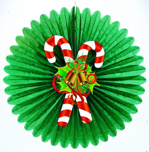 Deluxe Fan Assortment W/Candy Cane Diecuts - Product #5459-8