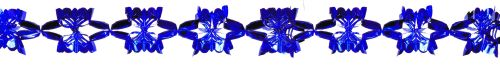 Blue Metallic Garland - Product #5525-0