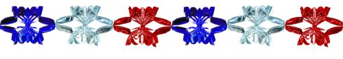Red/Silver/Blue Metallic Garland - Product #5539-0
