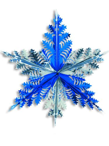Silver/Blue Star Snowflake - Product #5630-0