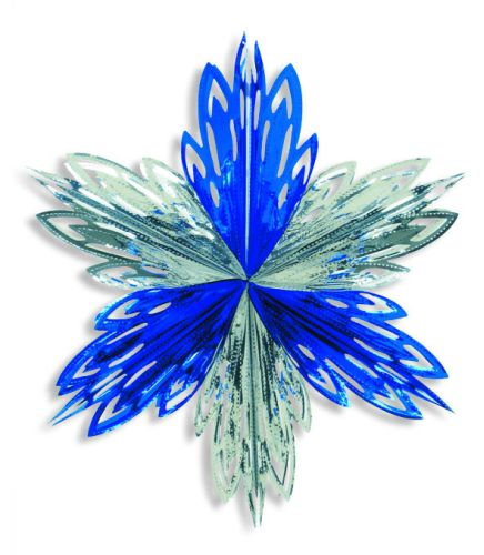 Silver/Blue Snowflake - Product #5651-0