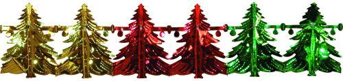 Green/Red/Gold Metallic Tree Garland - Product #5658-0